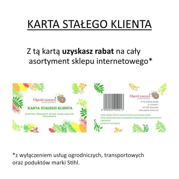 Honorujemy kartę stałego klienta
