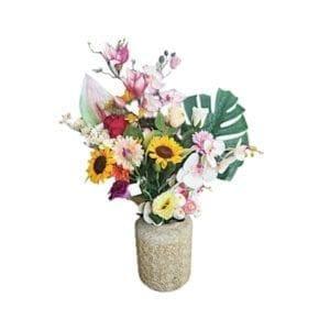Sztuczne kwiaty wazon